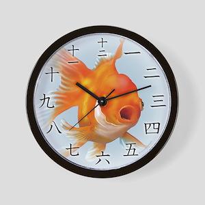 Goldfish Kanji Wall Clock