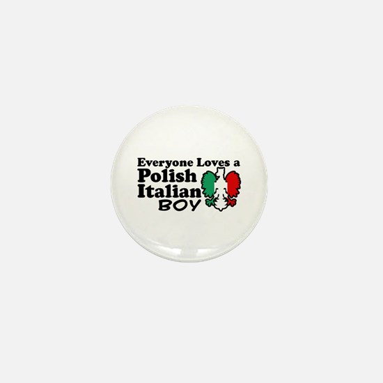 Polish Italian Boy Mini Button