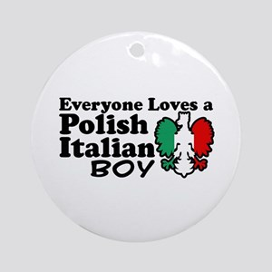Polish Italian Boy Ornament (Round)