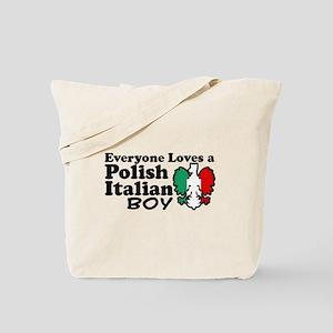 Polish Italian Boy Tote Bag
