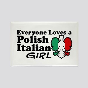 Polish Italian Girl Rectangle Magnet