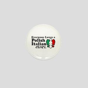 Polish Italian Girl Mini Button