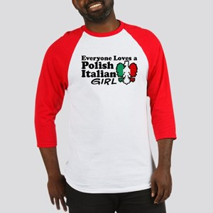 Polish Italian Girl Baseball Jersey
