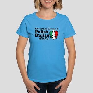 Polish Italian Girl Women's Dark T-Shirt