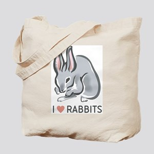 I Love Rabbits Tote Bag