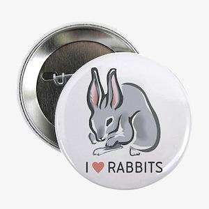 I Love Rabbits Button