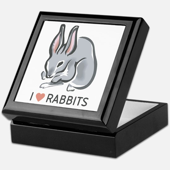 I Love Rabbits Keepsake Box