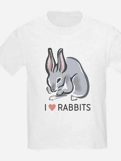I Love Rabbits Kids T-Shirt