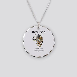 Real Men Necklace Circle Charm