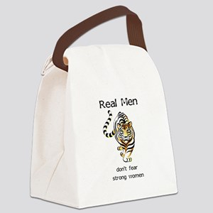 Real Men Canvas Lunch Bag