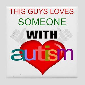Autism dude Tile Coaster