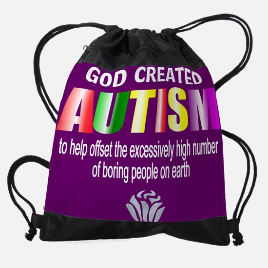 Autism passion Drawstring Bag