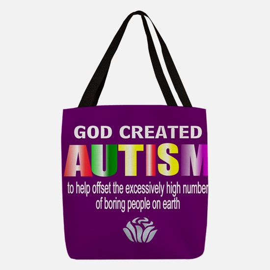 Autism passion Polyester Tote Bag
