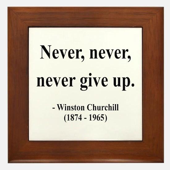 Winston Churchill 3 Framed Tile