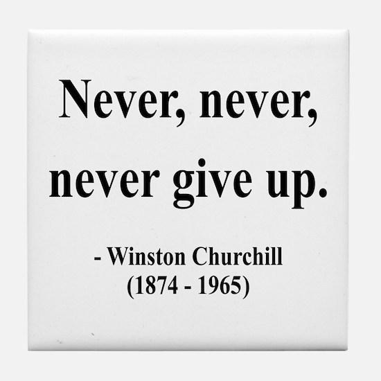 Winston Churchill 3 Tile Coaster
