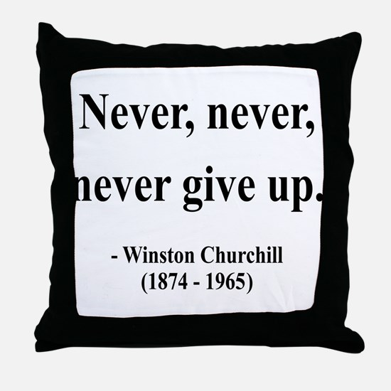 Winston Churchill 3 Throw Pillow