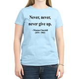 Winston churchill quote never never give up Women's Light T-Shirt