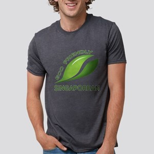 Eco Friendly Singaporean Co Mens Tri-blend T-Shirt