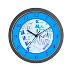 Knit Blue Light Wall Clock