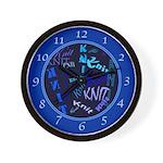 Knit Blue Dark Wall Clock