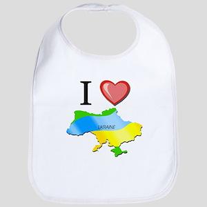 I Love Ukraine Bib