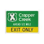 Crapper Creek Exit Rectangle Magnet