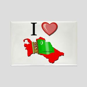 I Love Turkmenistan Rectangle Magnet