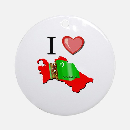 I Love Turkmenistan Ornament (Round)