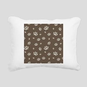 Paw Prints Rectangular Canvas Pillow