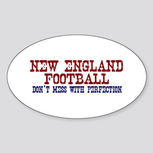 New England Football Perfection Oval Sticker