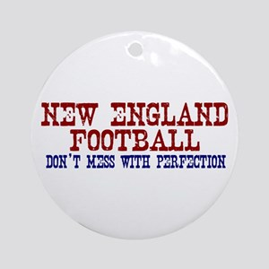 New England Football Perfection Ornament (Round)