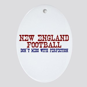 New England Football Perfection Oval Ornament