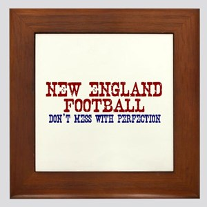 New England Football Perfection Framed Tile