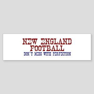 New England Football Perfection Bumper Sticker