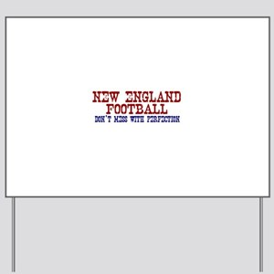 New England Football Perfection Yard Sign