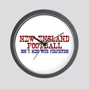 New England Football Perfection Wall Clock