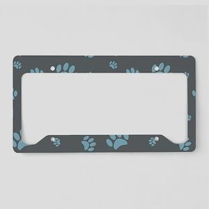 Paw Prints License Plate Holder