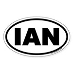 IAN Oval Sticker