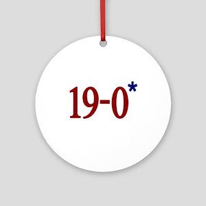 19-0 Asterisk (Spygate) Ornament (Round)