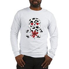 Cow Skull Anti-Valentine Long Sleeve T-Shirt