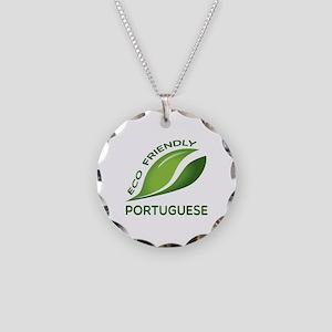 Eco Friendly Portuguese Coun Necklace Circle Charm