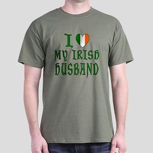 I Love My Irish Husband Dark T-Shirt