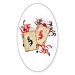 Kokopelli Gambler Oval Sticker