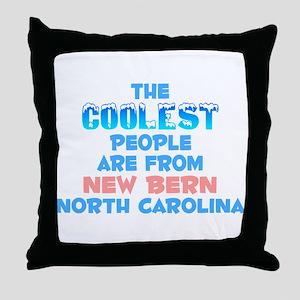 Coolest: New Bern, NC Throw Pillow