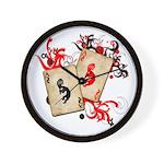 Kokopelli Gambler Wall Clock