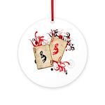 Kokopelli Gambler Ornament (Round)