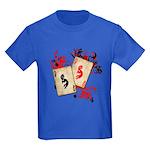 Kokopelli Gambler Kids Dark T-Shirt
