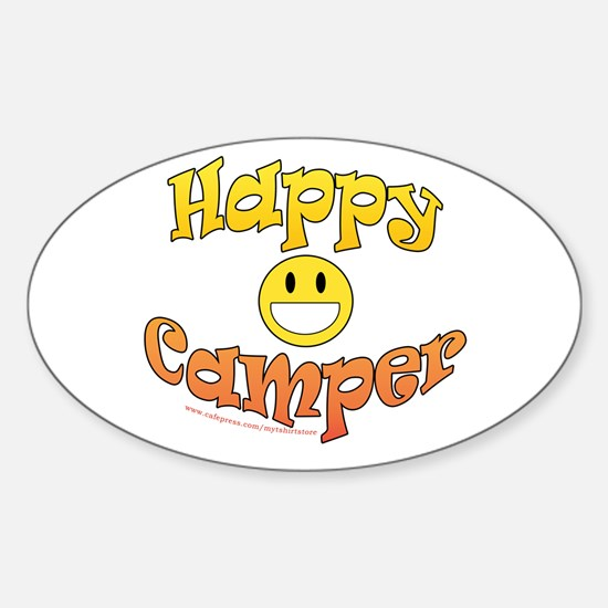 Happy Camper Oval Decal