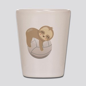 Cute Sloth Volleyball Shot Glass
