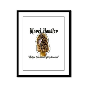 Morel Morchella Fungi gifts Framed Panel Print